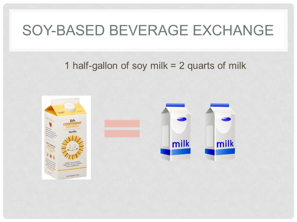 SOY-BASED BEVERAGE 101 Overview Source of omega-3 fatty acids Has the same amount of protein as cow s milk Eating 25 grams a day of soy protein might help lower blood cholesterol levels Useful in some cases Milk allergies People who don't consume dairy products Children's diets may be nutritionally inadequate when milk is replaced with other foods.