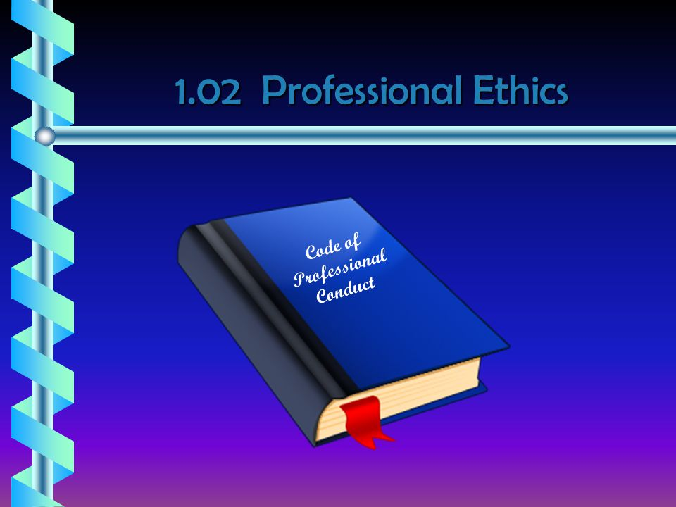 1.02 Professional Ethics Code of Professional Conduct