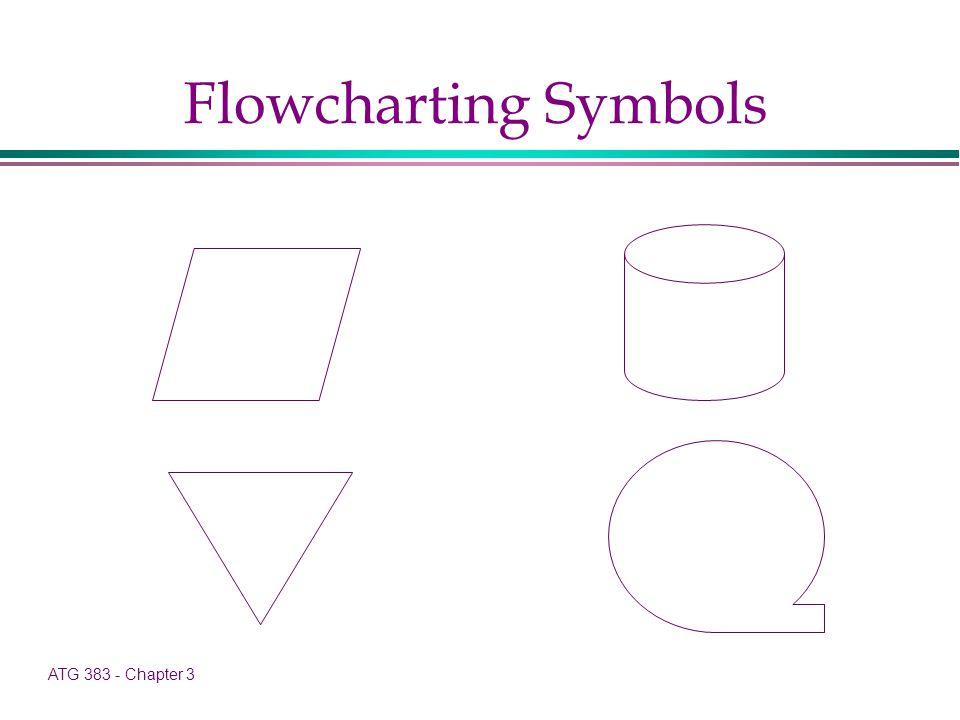 ATG 383 - Chapter 3 Flowcharting Symbols