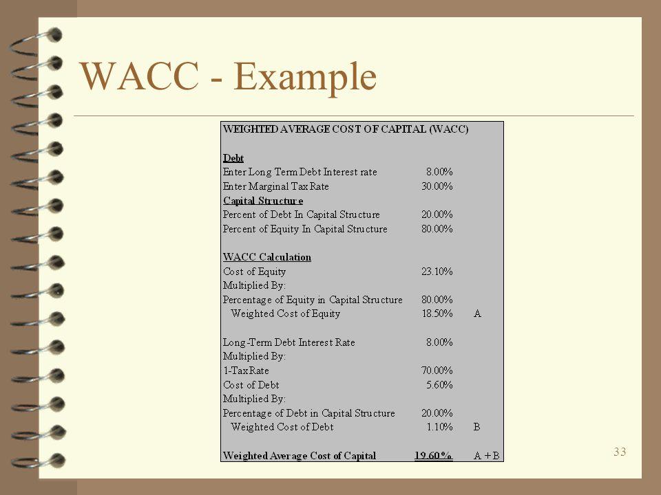 33 WACC - Example