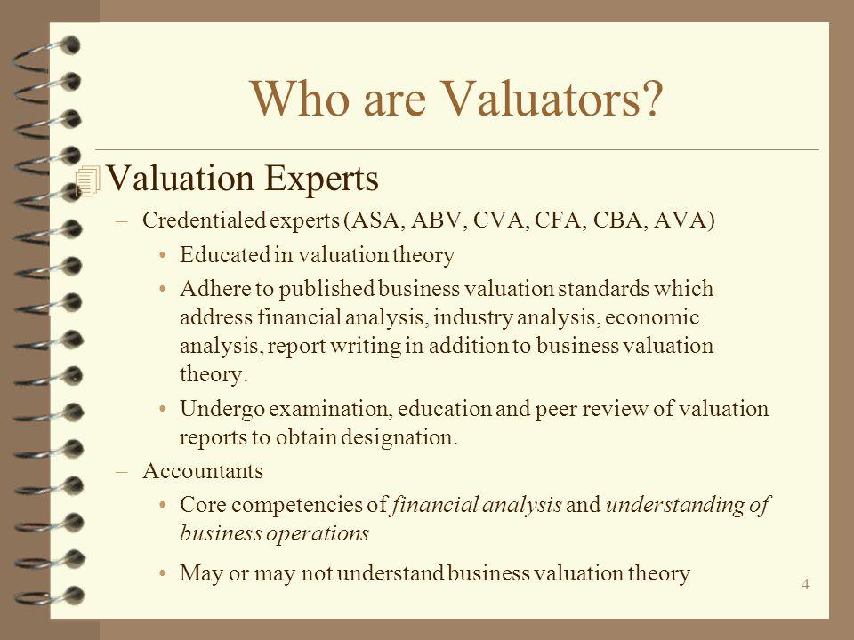 4 Who are Valuators.