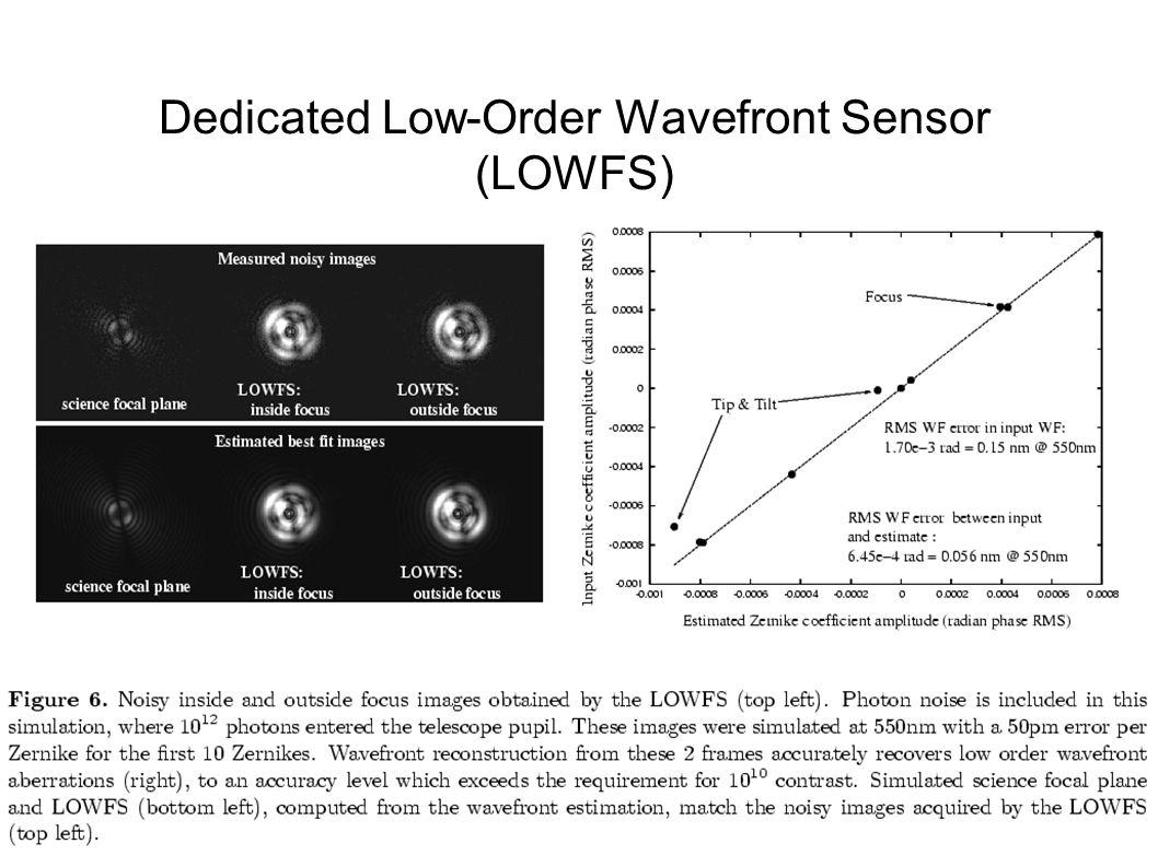Dedicated Low-Order Wavefront Sensor (LOWFS)