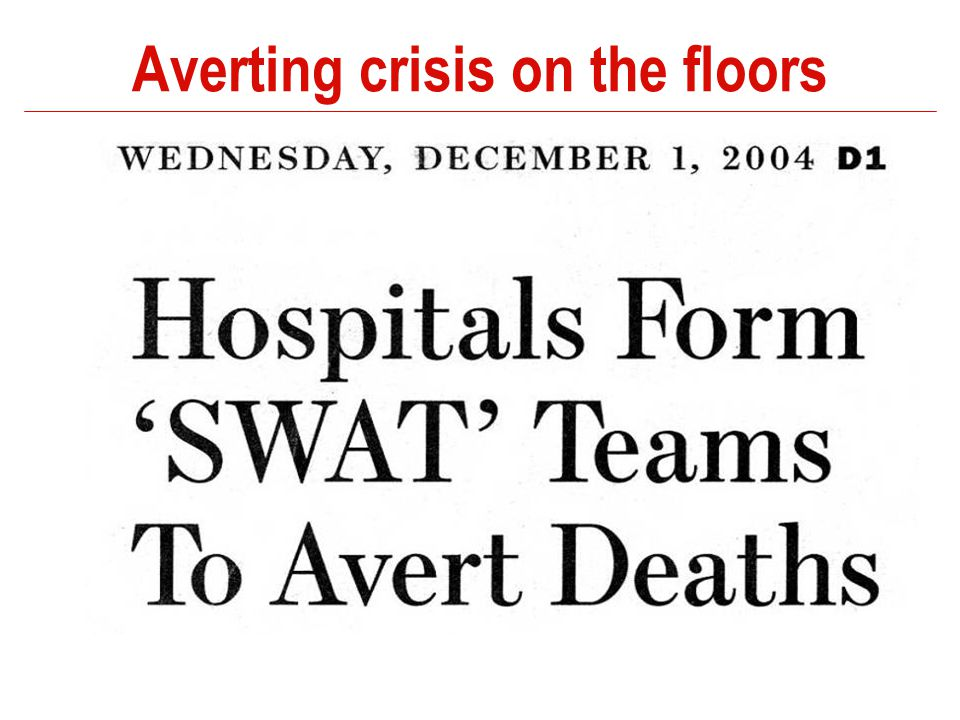 Averting crisis on the floors