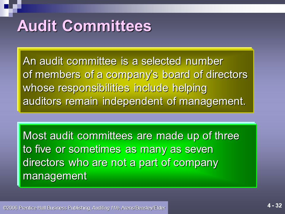 ©2006 Prentice Hall Business Publishing, Auditing 11/e, Arens/Beasley/Elder Sarbanes-Oxley Act and SEC Provisions Addressing Auditor Independence 1.