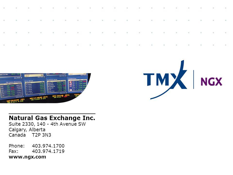 23 _____________________ Natural Gas Exchange Inc. Suite 2330, 140 - 4th Avenue SW Calgary, Alberta Canada T2P 3N3 Phone:403.974.1700 Fax:403.974.1719