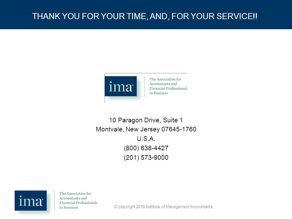 10 Paragon Drive, Suite 1 Montvale, New Jersey 07645-1760 U.S.A.