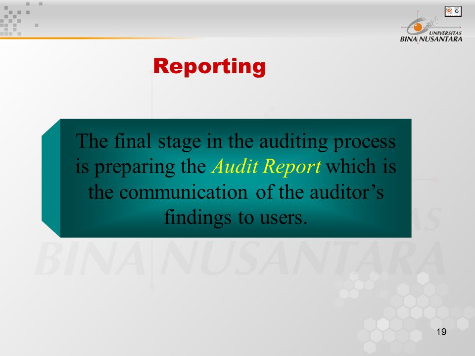 18 Competent, Independent Person The auditor must be qualified to understand the criteria used and must be competent to know the types and amount of evidence to accumulate to reach the proper conclusion after the evidence has been examined.