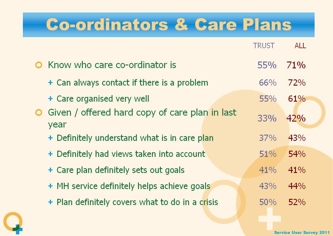 Service User Survey 2011 Co-ordinators & Care Plans