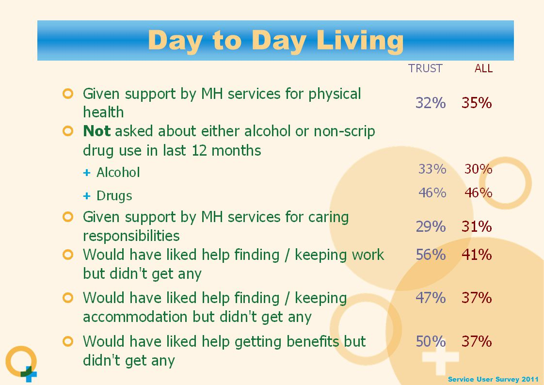 Service User Survey 2011 Day to Day Living