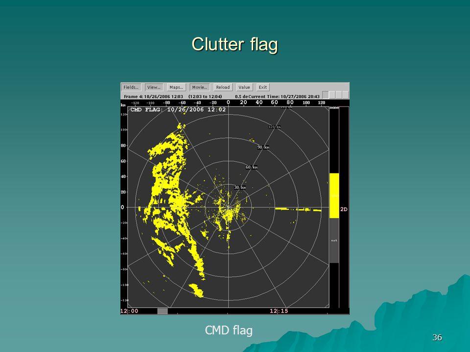 36 Clutter flag CMD flag