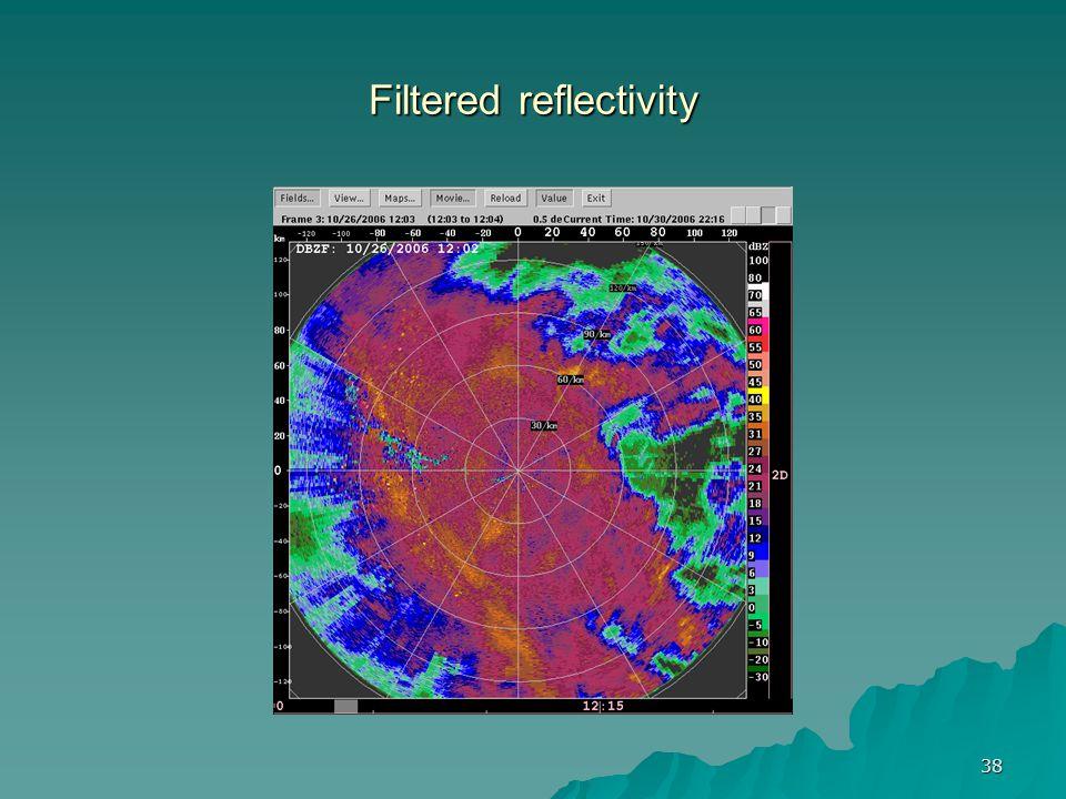 38 Filtered reflectivity