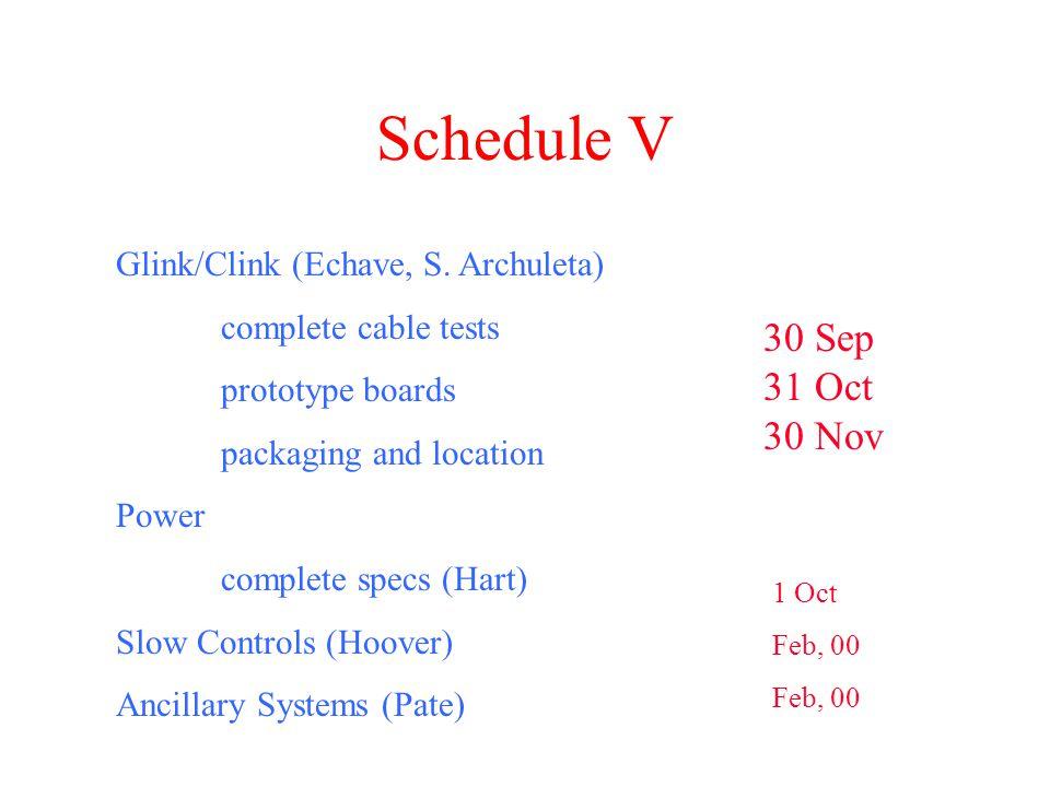 Schedule V Glink/Clink (Echave, S.
