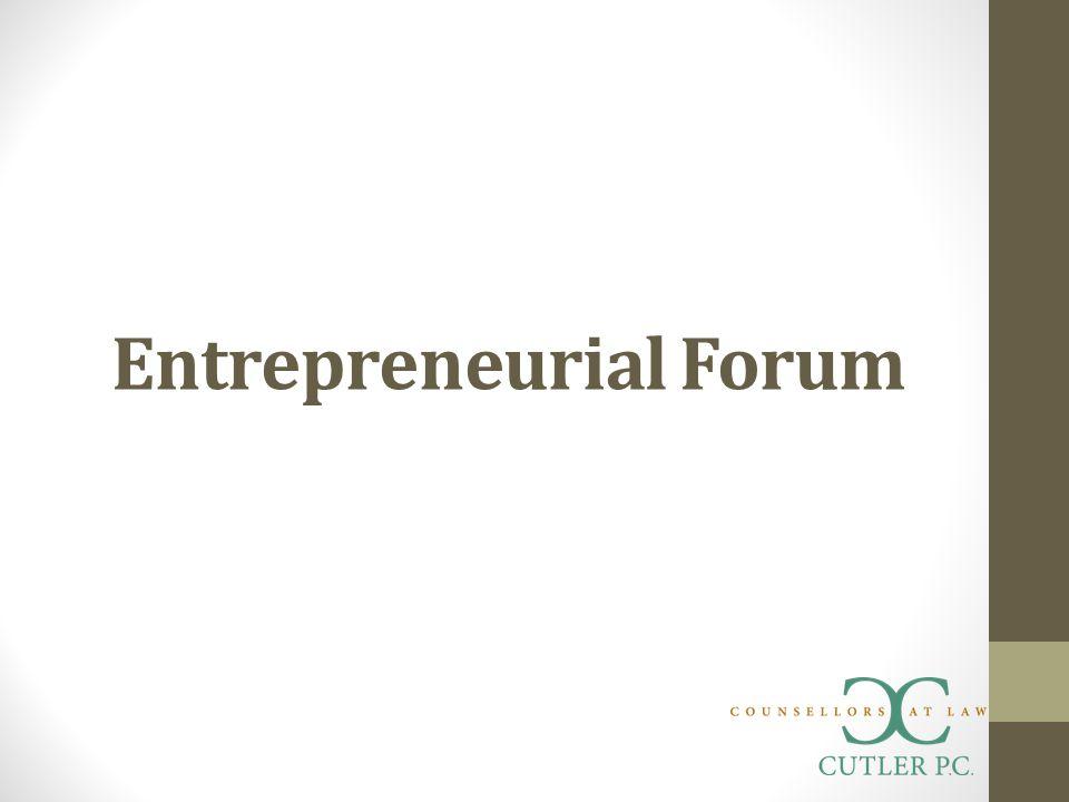 Entrepreneurial Forum