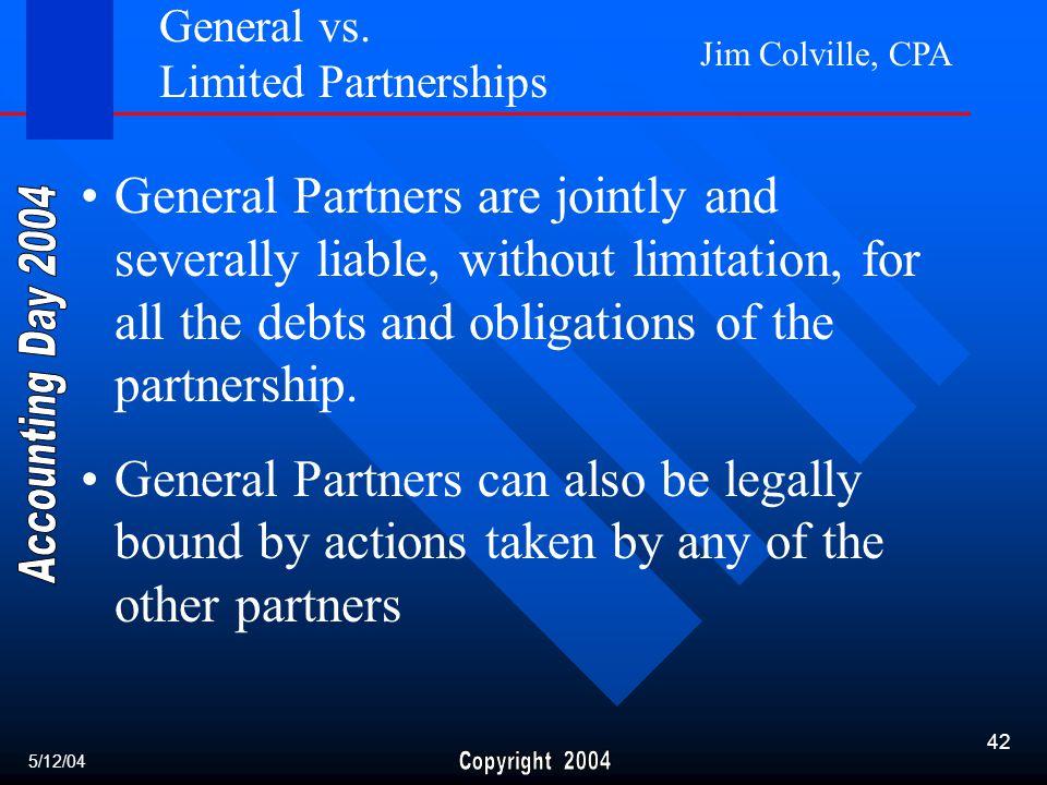 Jim Colville, CPA 42 General vs.