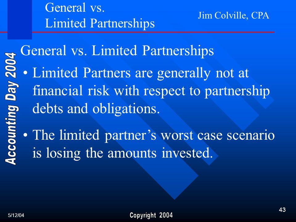 Jim Colville, CPA 43 General vs.