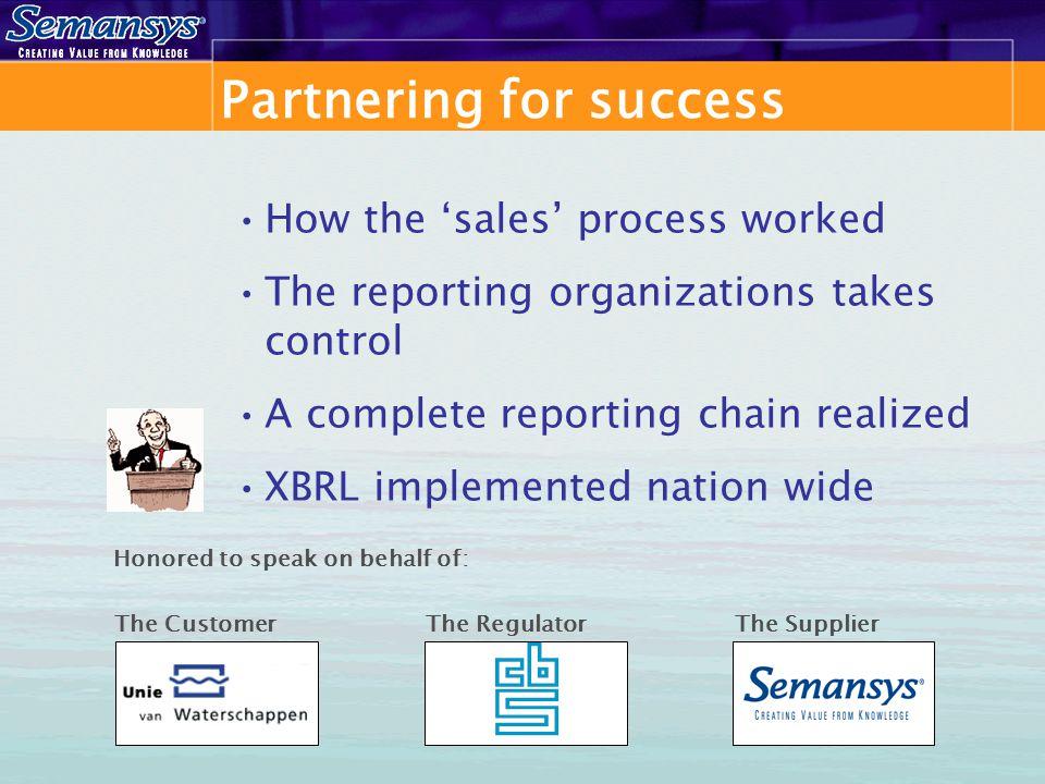 The supply chain XBRL Vendor XBRL Expertise XBRL Module Central Gov' Regulator Customer Auditor XBRL Taxonomy 'XBRL a Must' GL – SW Vendors