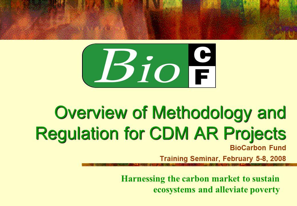 Program of Activities (PoA) for Afforstation/Reforestation