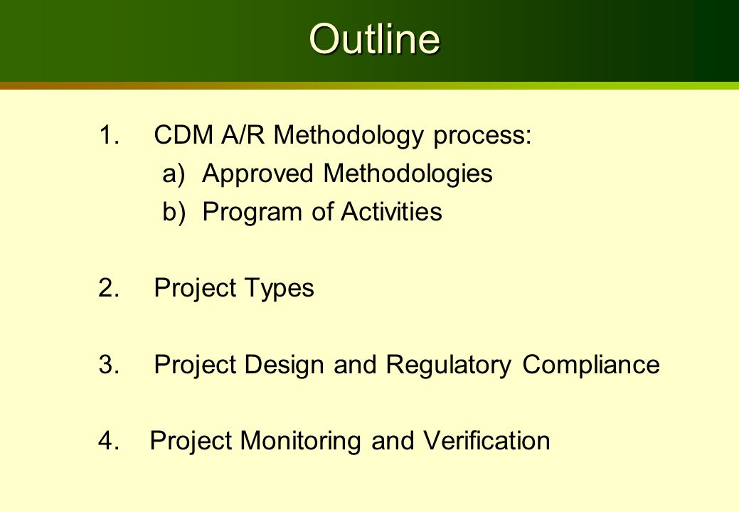 Terminology PoA-AR Program of Activities for AR CPA-AR CDM Program Activity for AR CDM-PoA-DD-AR:Design Document for AR PoA CDM-CPA-DD-AR: Design Document for AR CPA CDM-PoA-SSC-DD-AR:Design Document for Small Scale AR PoA CDM-CPA-SSC-DD-AR:Design Document for Small Scale AR CPA F-CDM-PoA-REG-AR: Registration request for AR PoA F-CDM-PoA-REQCERS-AR: Request for Issuance