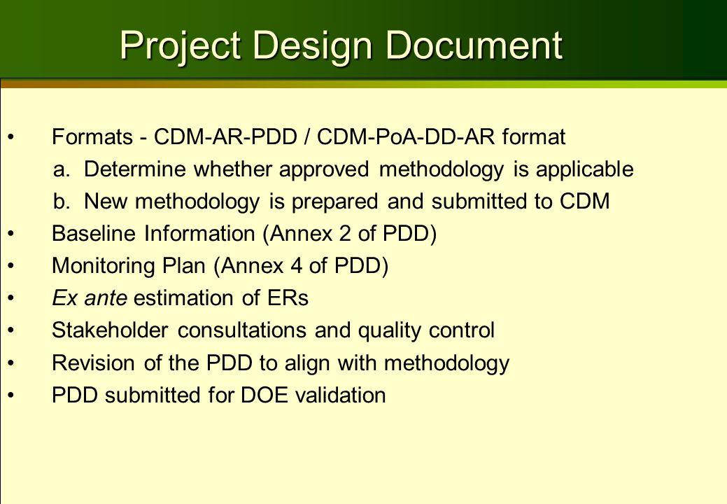 Formats - CDM-AR-PDD / CDM-PoA-DD-AR format a.