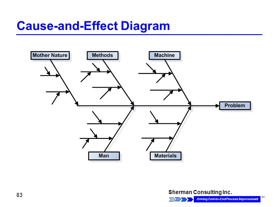 Sherman Consulting Inc. Driving End-to-End Process Improvement SM 83 Cause-and-Effect Diagram