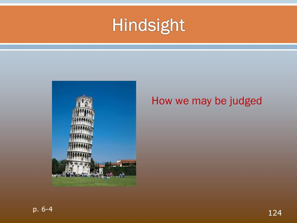 124 How we may be judged p. 6-4