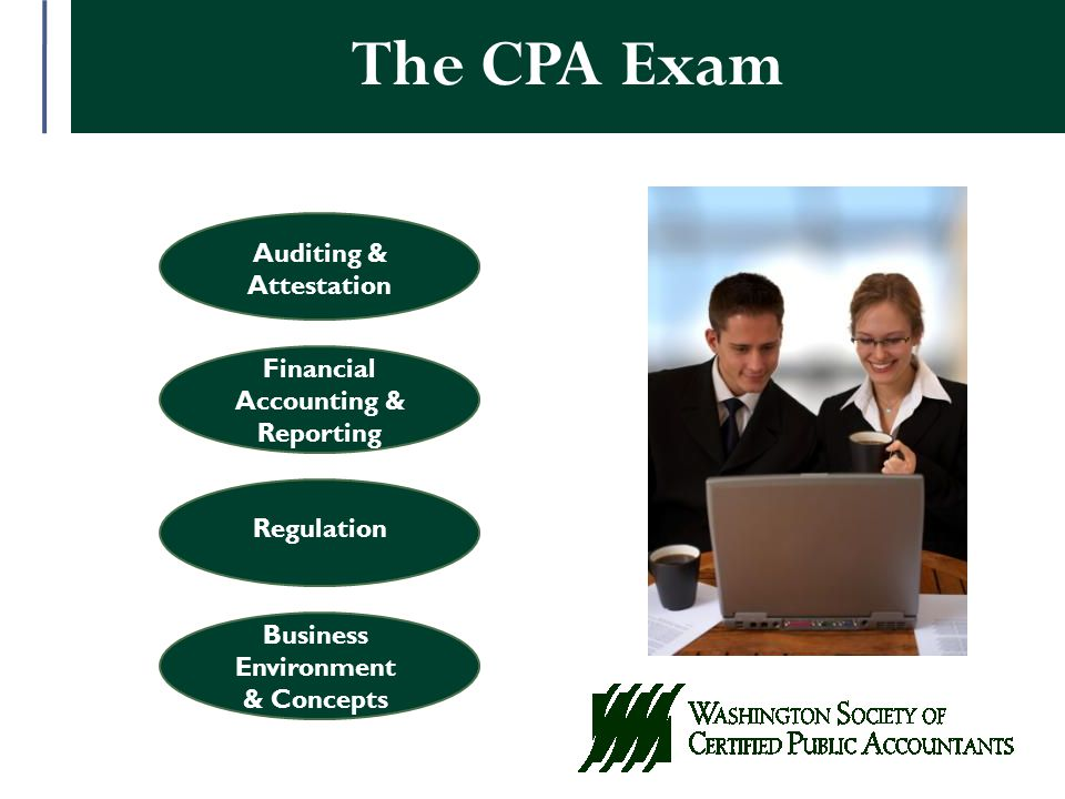Auditing & Attestation Financial Accounting & Reporting Regulation Business Environment & Concepts The CPA Exam