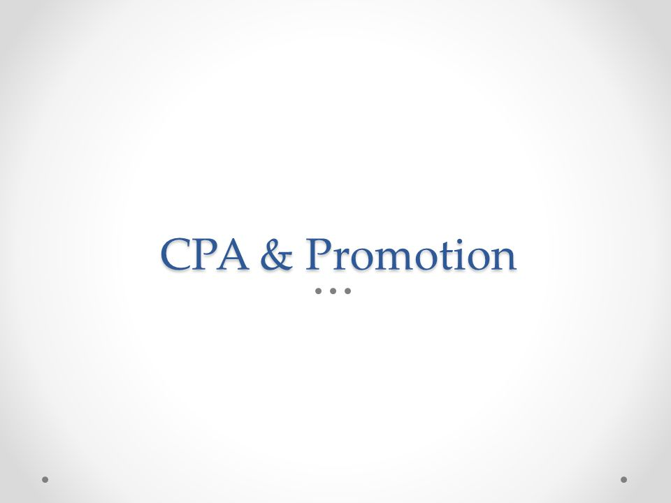 CPA & Promotion