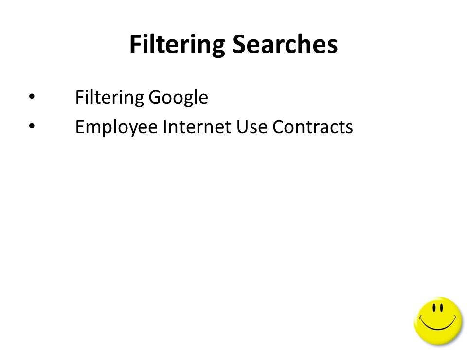 Filtering Google Employee Internet Use Contracts