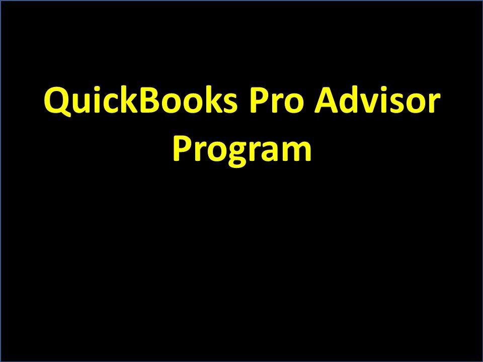 QuickBooks Pro Advisor Program