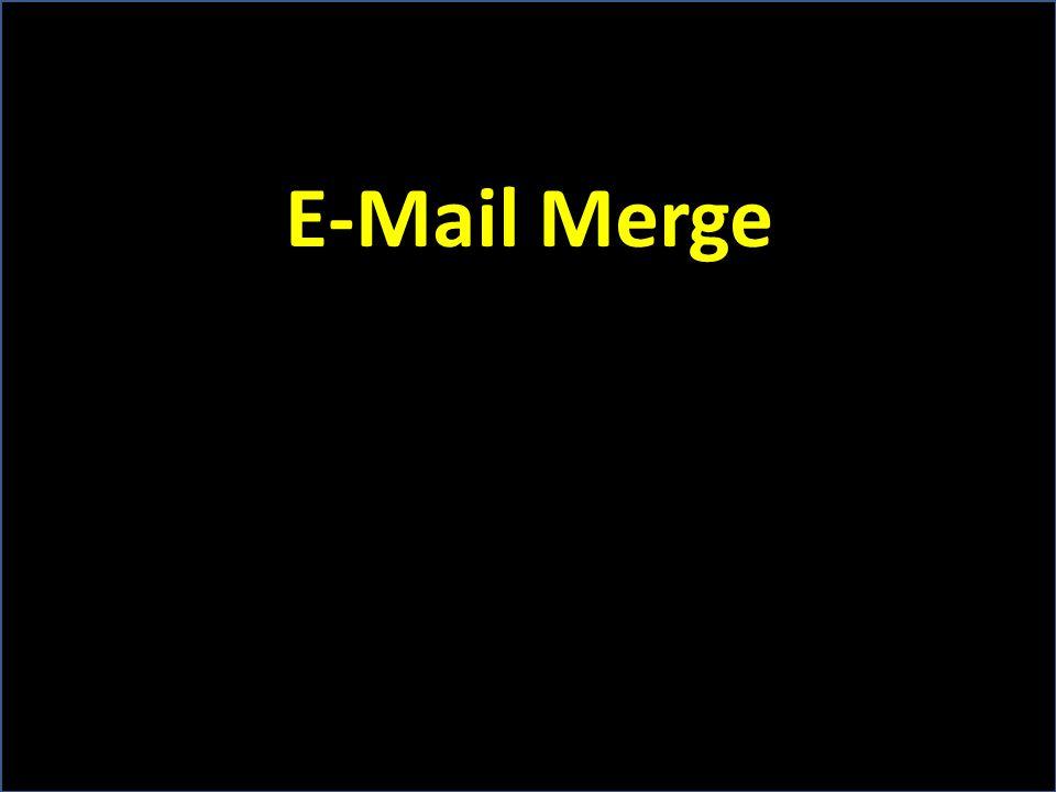 E-Mail Merge