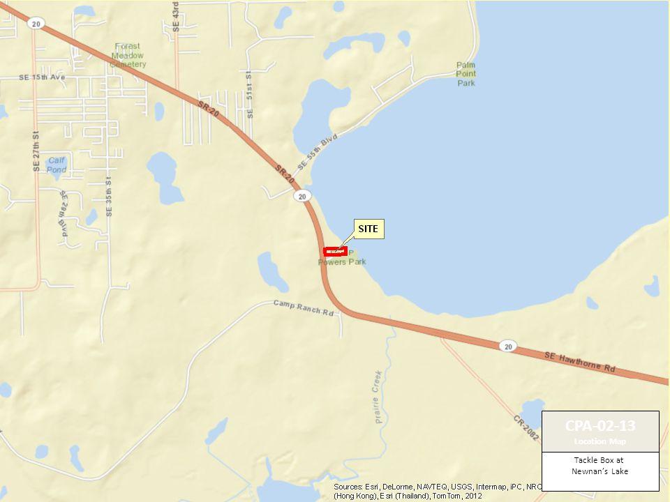 Tackle Box at Newnan's Lake CPA-02-13 Location Map