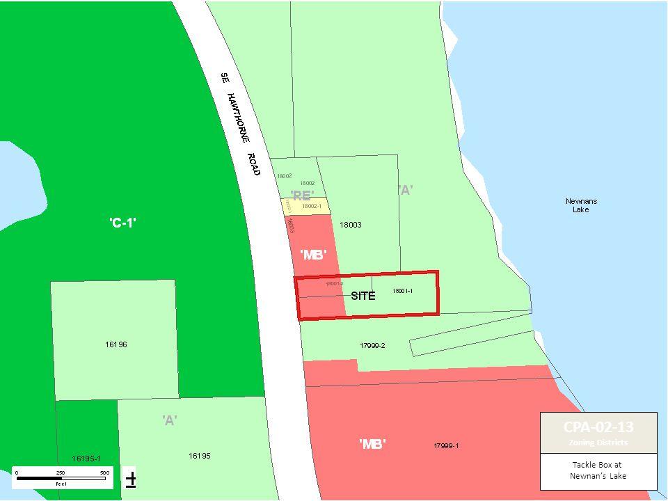 Tackle Box at Newnan's Lake CPA-02-13 Zoning Districts