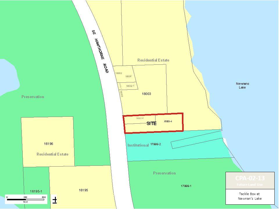 Tackle Box at Newnan's Lake CPA-02-13 Future Land Use