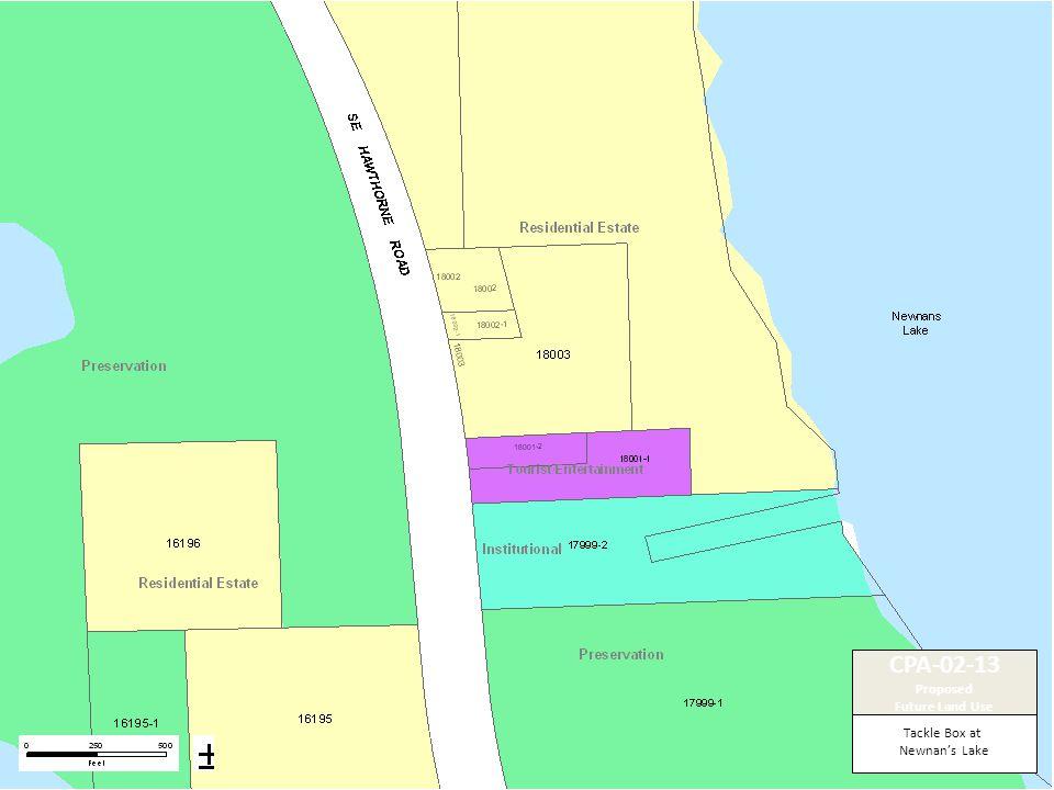Tackle Box at Newnan's Lake CPA-02-13 Proposed Future Land Use