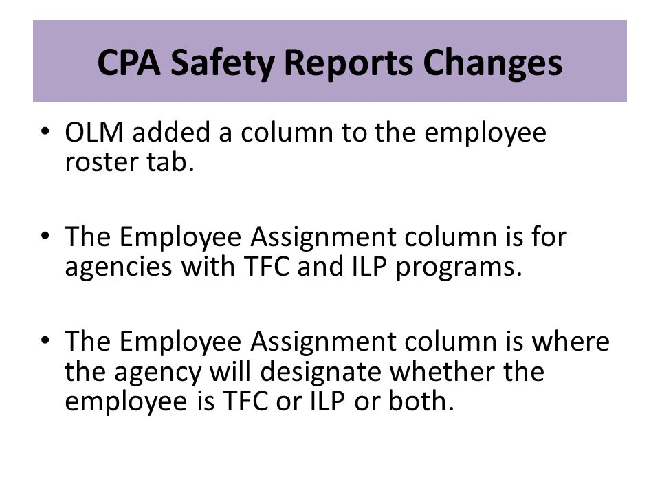 OLM added a column to the employee roster tab.