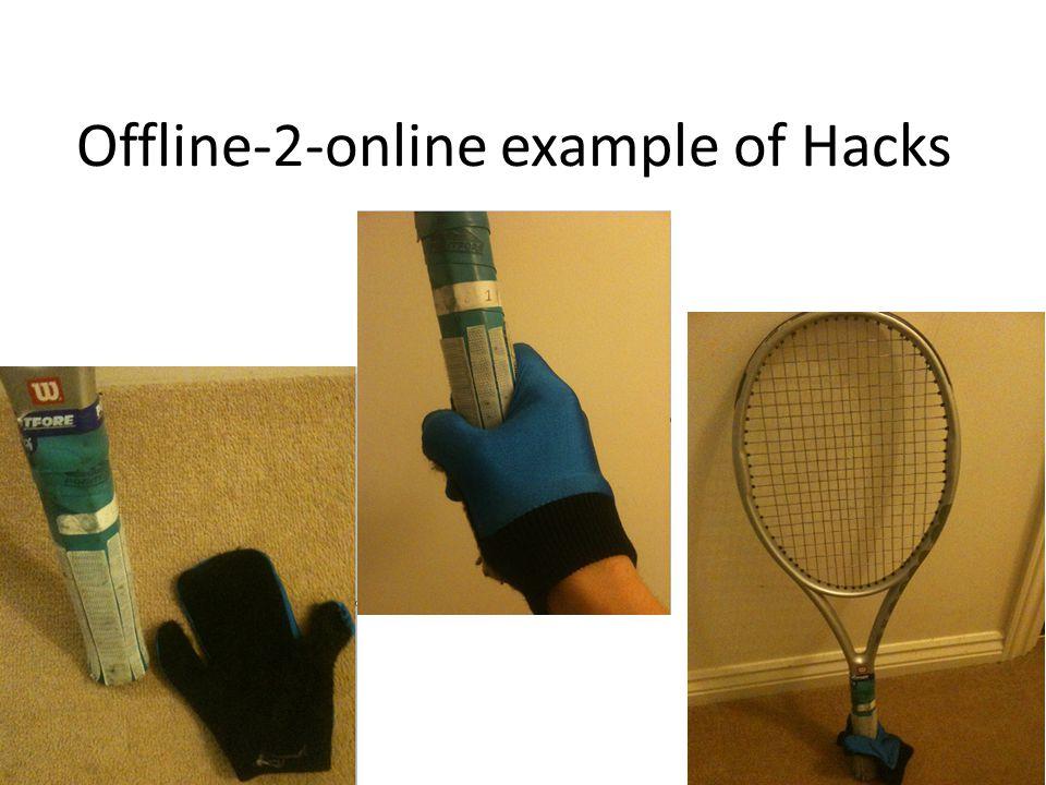 Offline-2-online example of Hacks