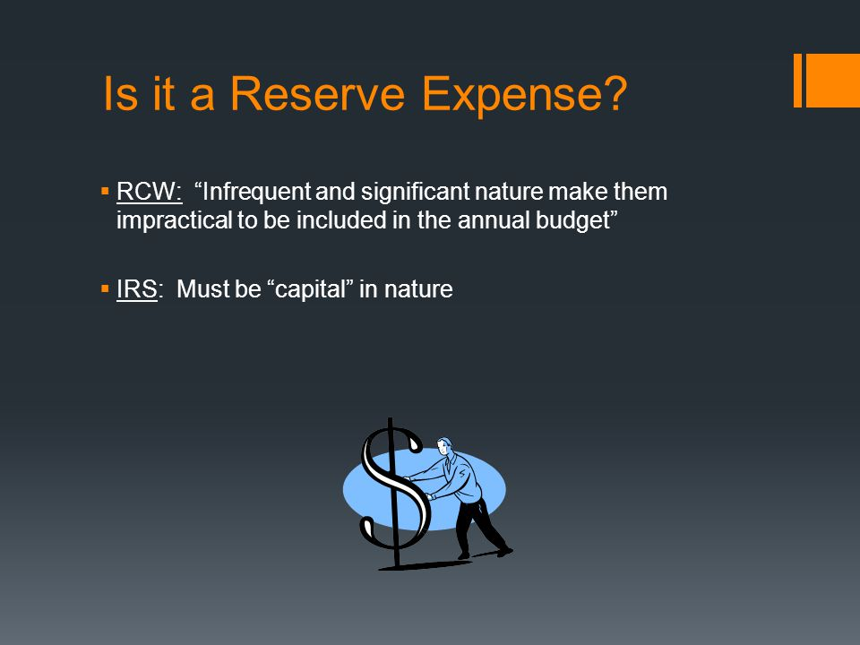 Is it a Reserve Expense.