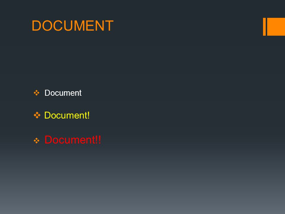 DOCUMENT  Document  Document!  Document!!