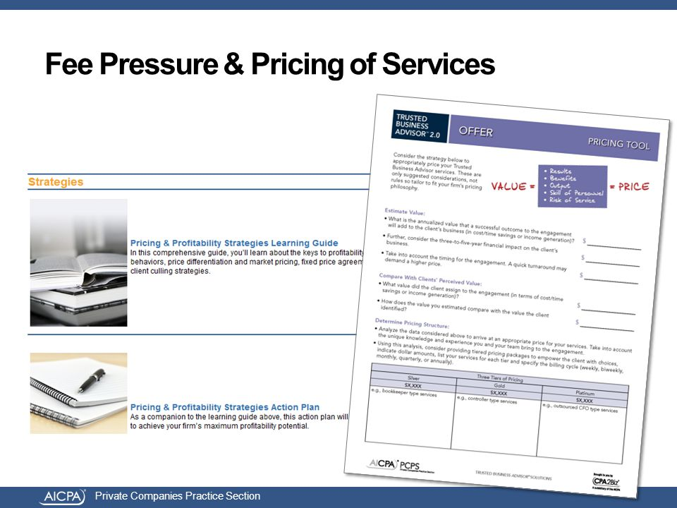 Private Companies Practice Section Fee Pressure & Pricing of Services