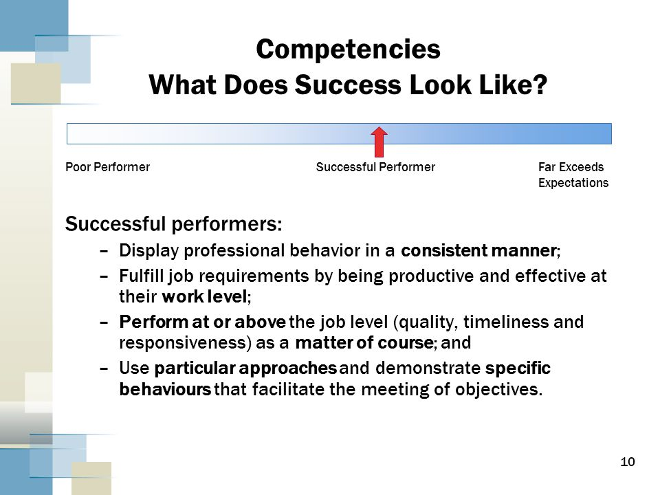 10 Competencies What Does Success Look Like.