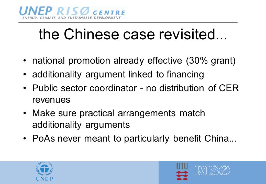 the Chinese case revisited...