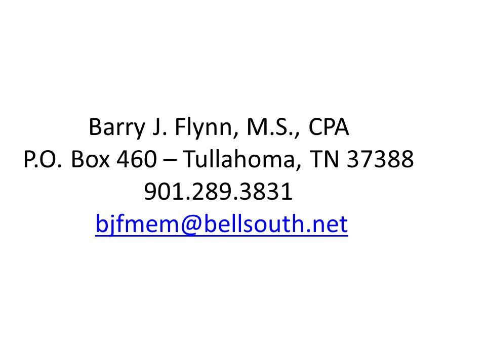 Barry J. Flynn, M.S., CPA P.O.