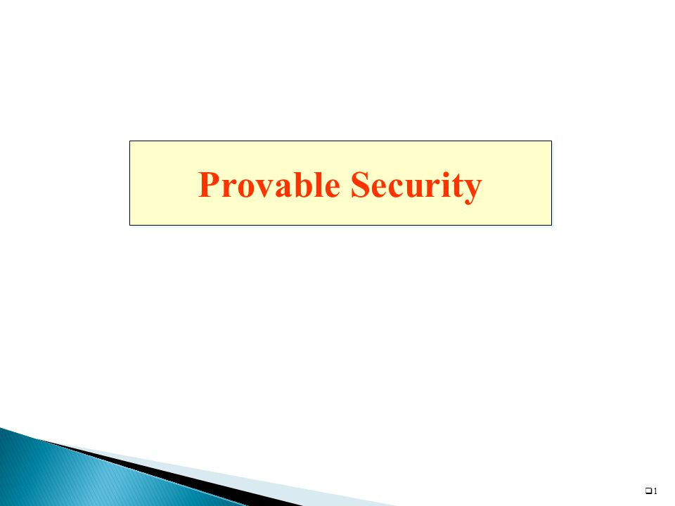 11 Provable Security