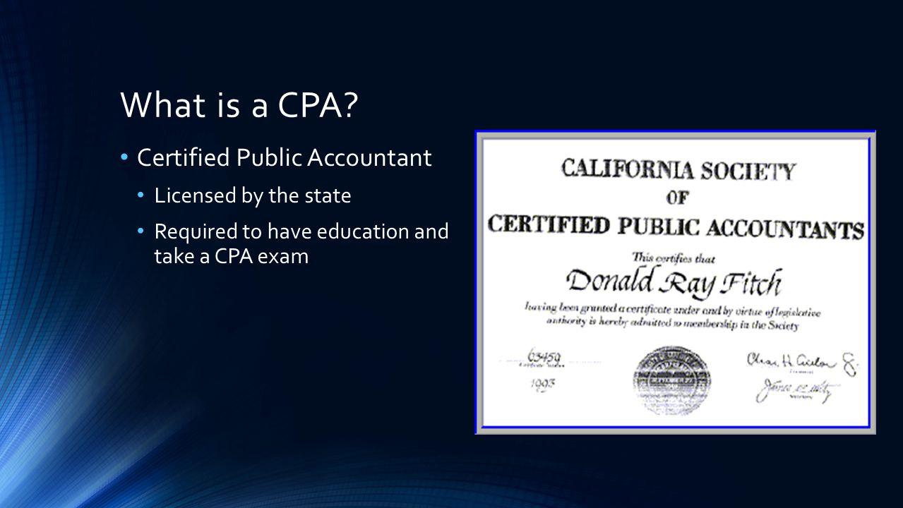 What is a CPA.