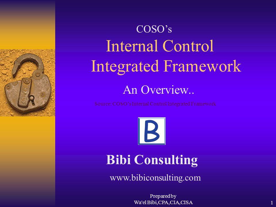 Prepared by Wa el Bibi,CPA,CIA,CISA12 Monitoring  Internal control systems need to be monitored.