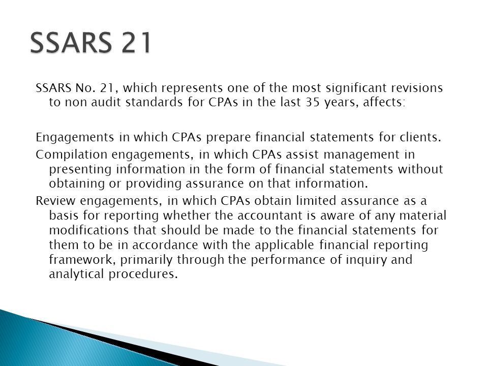Key differences between compilation and preparation services: 7) May the financial statements omit notes.