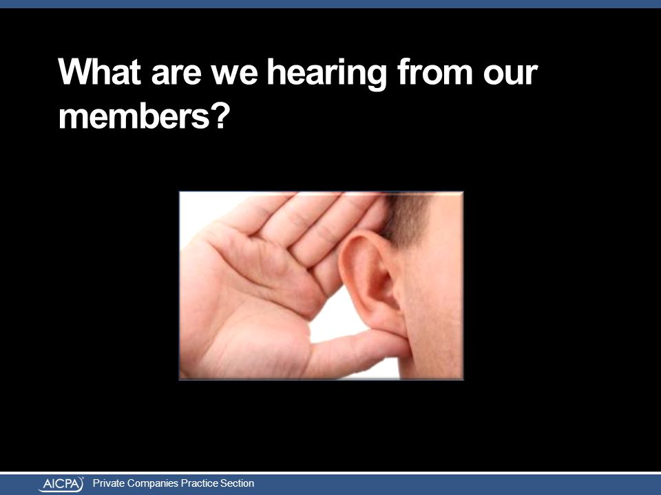 Private Companies Practice Section What are we hearing from our members