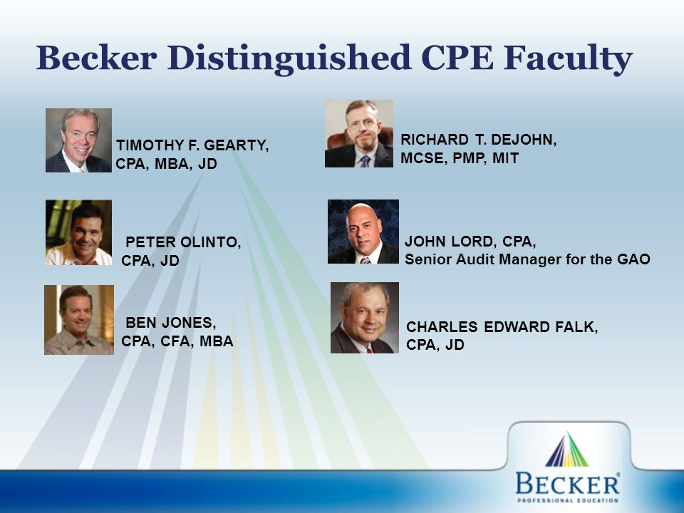 Becker Distinguished CPE Faculty TIMOTHY F.