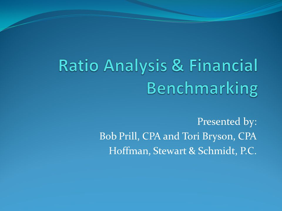 Presented by: Bob Prill, CPA and Tori Bryson, CPA Hoffman, Stewart & Schmidt, P.C.