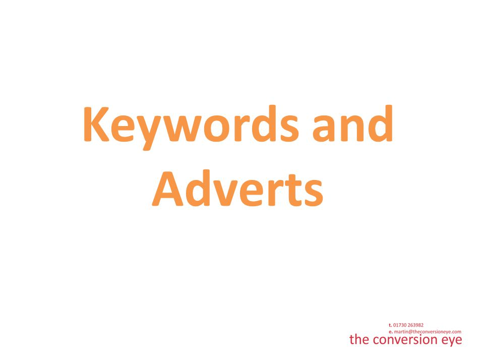 Keywords and Adverts